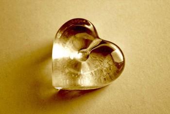 Hjärta glas