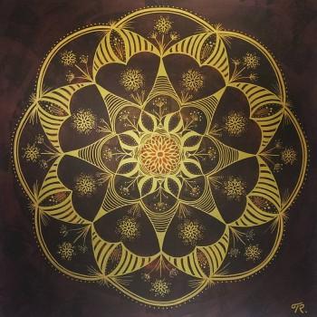 """""""Guldjord"""", en tavla om jordelivets guldskatt."""